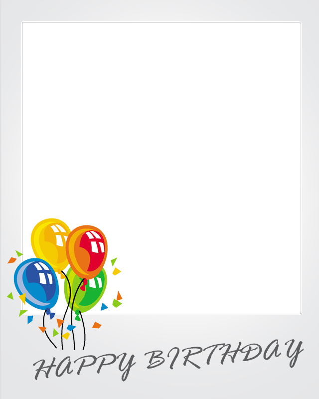 Polaroid clipart printable. Happy birthday frame android