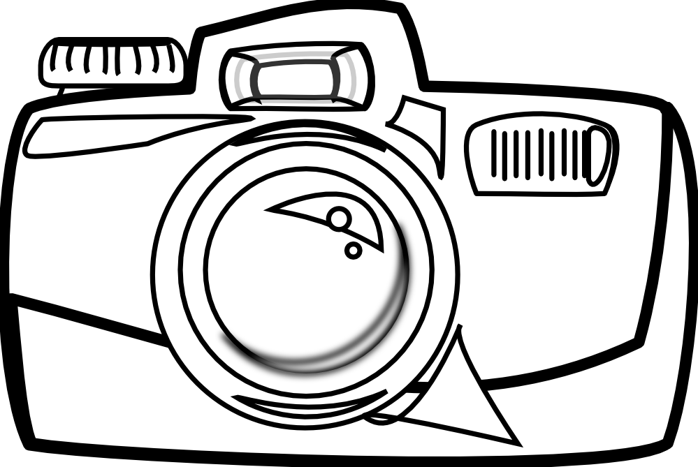 Polaroid picture clipart line drawing. Camera clip art library