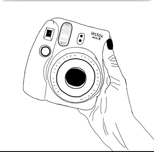 Polaroid clipart outline. Drawing at getdrawings com