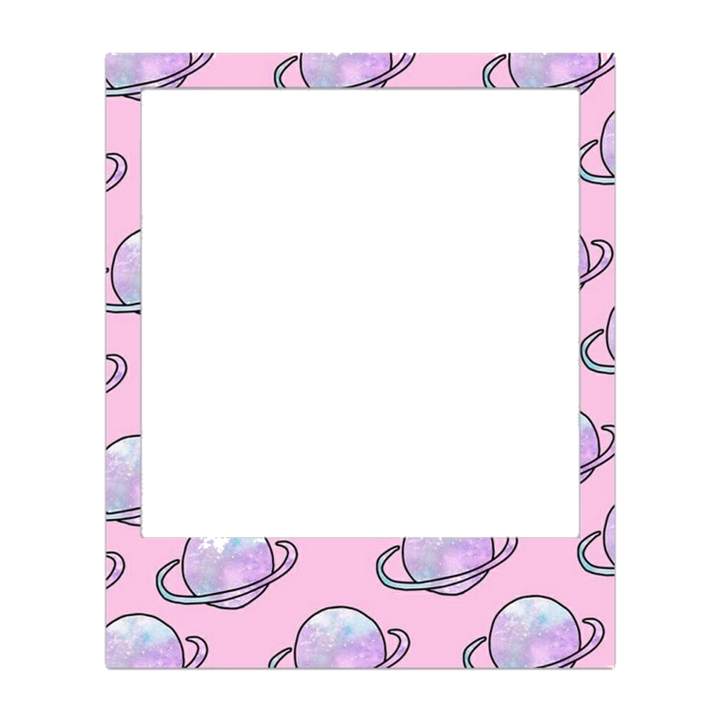 Polaroid clipart pastel. Space frame freetoedit sticker