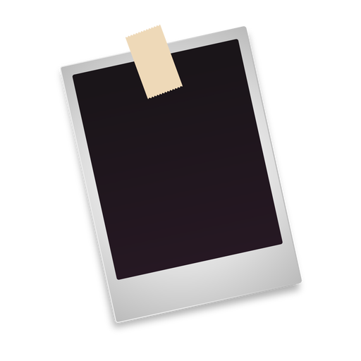 Polaroid clipart pinned. Blank photo icon transparent