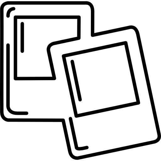 Polaroid clipart vector. Outlined vectors photos and