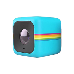 Polaroid cube png. Lifestyle action camera blue