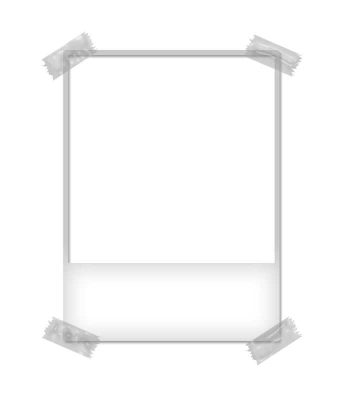 Polaroid frame png. By ju tpeachy on