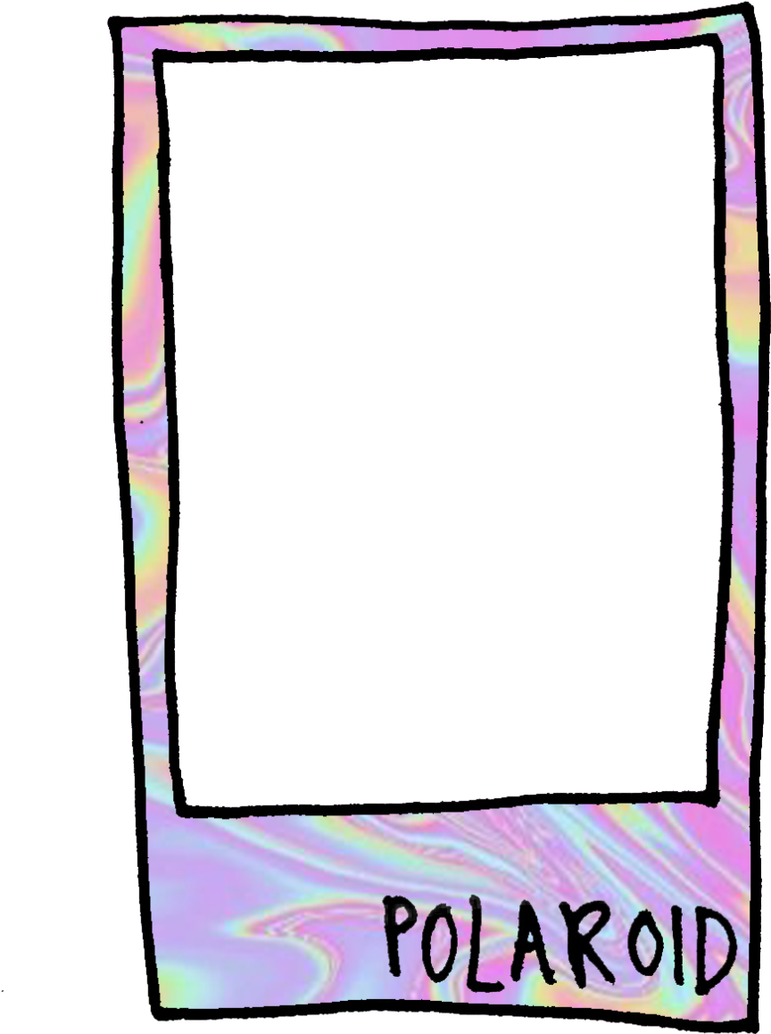 Polaroid picture clipart cute. Frame ideas holographic aesthetic