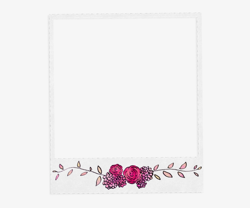 Polaroid picture png aesthetic. Frame template marco transparent