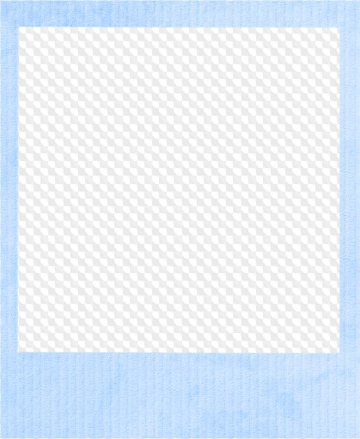 Polaroid png blue. Picture frame images in