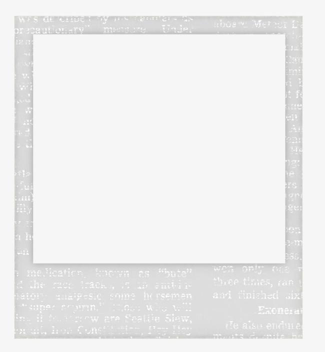 Polaroid png border. Film frame clipart simple