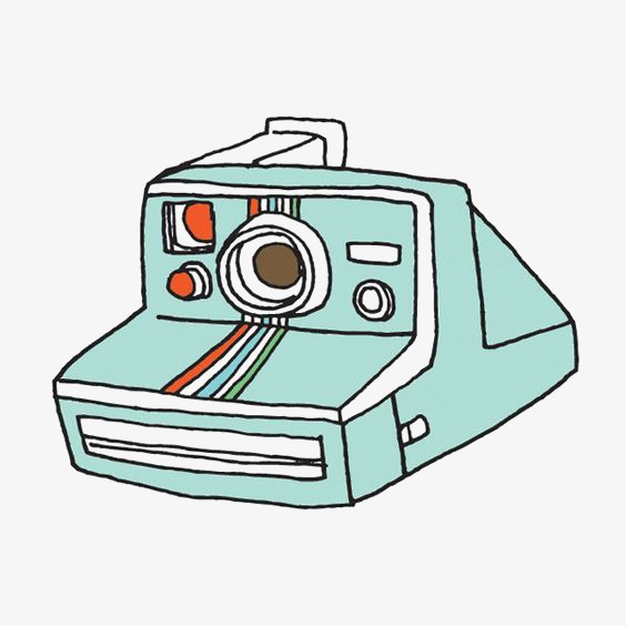 Polaroid picture png cartoon. Hand painted camera image