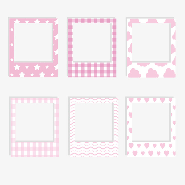 Polaroid picture png cute. Pink photo paper collection