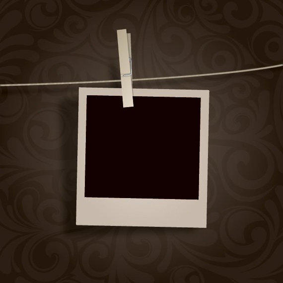 Polaroid png hanging. Blank photo vector download