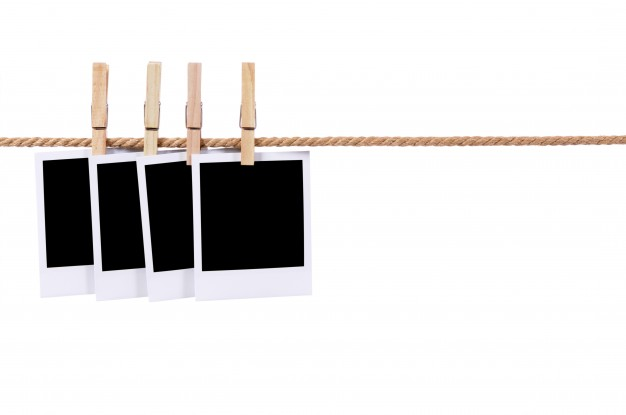 Polaroid png string. Photos on a rope