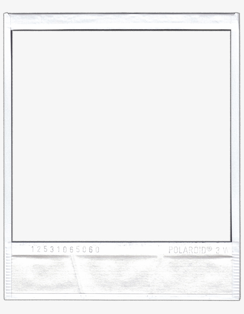 Polaroid picture png frame. By webdiner free transparent