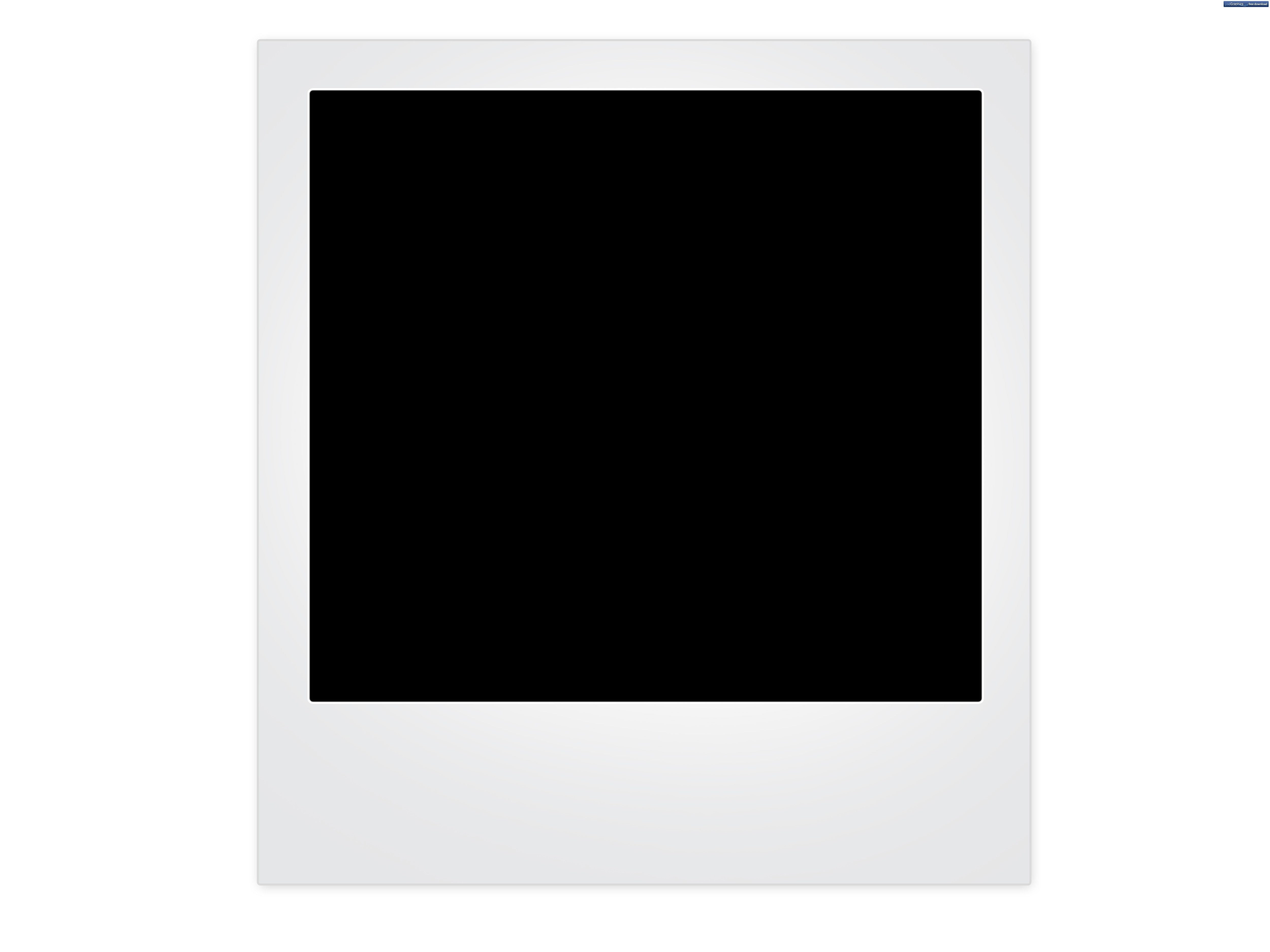 Polaroid picture png transparent background. Blank frame at template