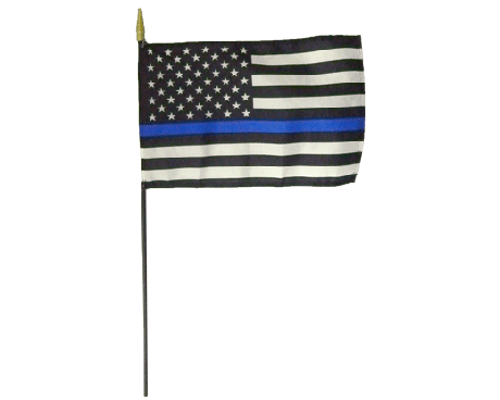Flagpole clip telescoping. Police department and law