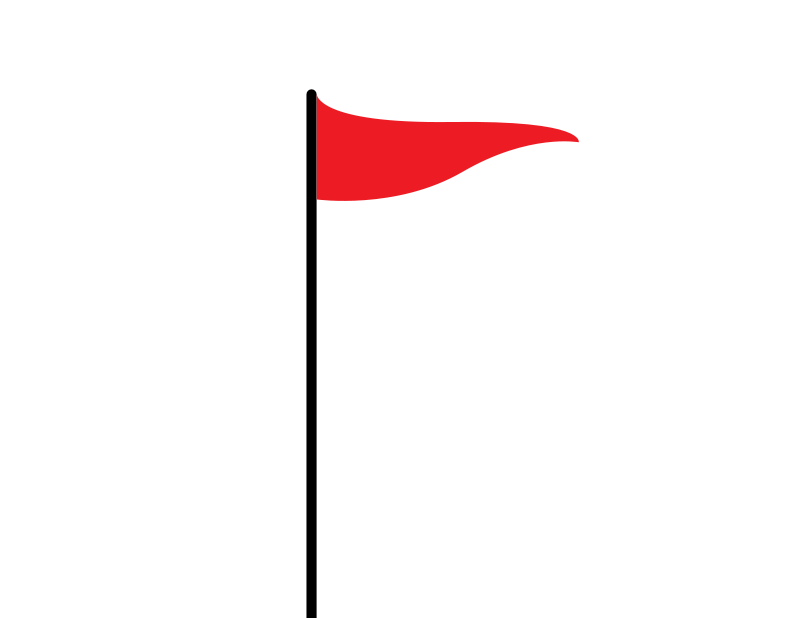 Pole vector. Red flag clip art graphic free library