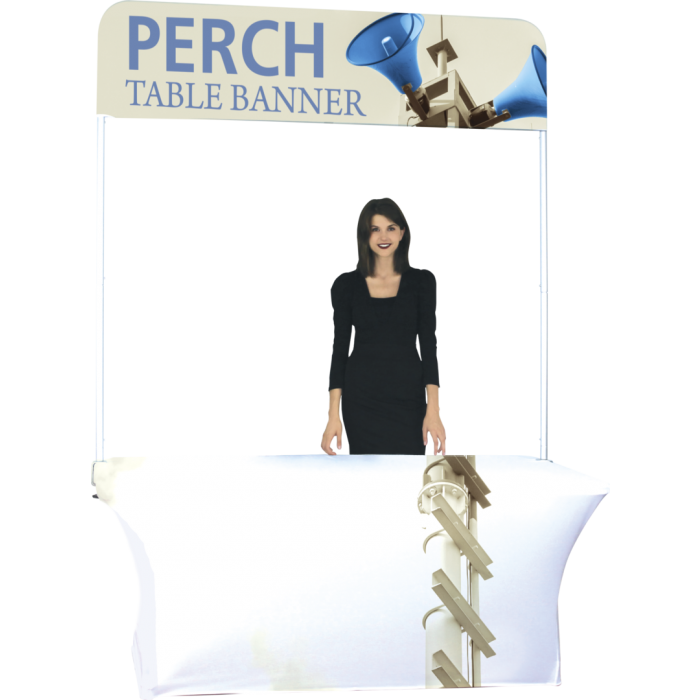 Pole vector simple design. Perch ft table banner
