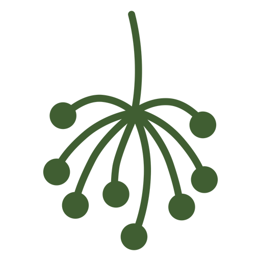Pole vector simple design. Plant tip icon transparent