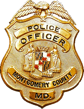Police badge clipart png. Montgomery county transparent stickpng