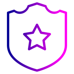 Police badge outline png. Free crime and security