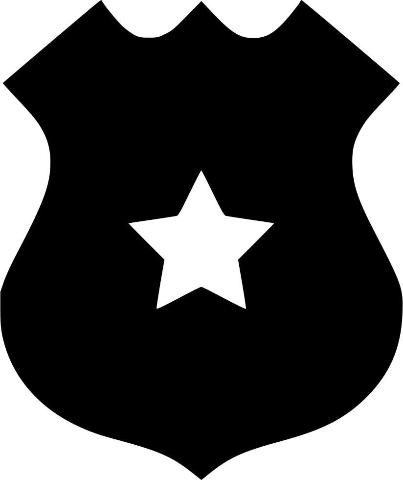 Police badge outline png. Svg icon free download