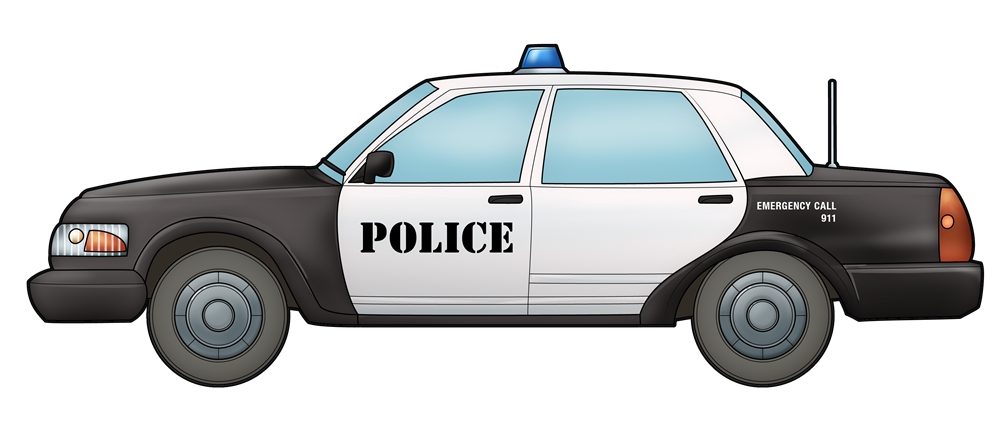 Police car side view png. Collection of clipart