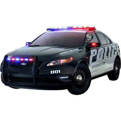 Police car transparent png. Us sideview stickpng