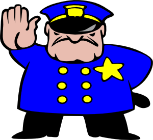 Police clipart. Funny  picture royalty free stock
