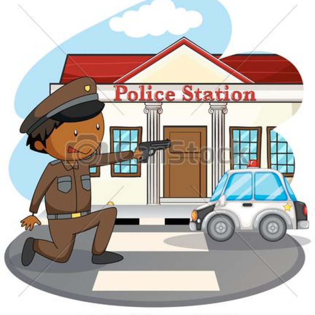 Car hatenylo com policeman. Police clipart police station image black and white download