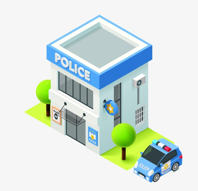 Police clipart police station. Department cartoon building png