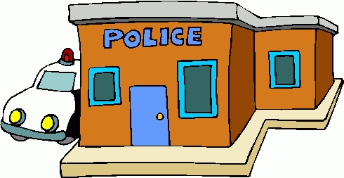 Police clipart police station. Top of black and