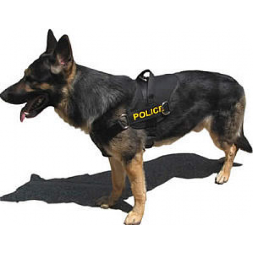 Police dog png. Patrol harness with breast