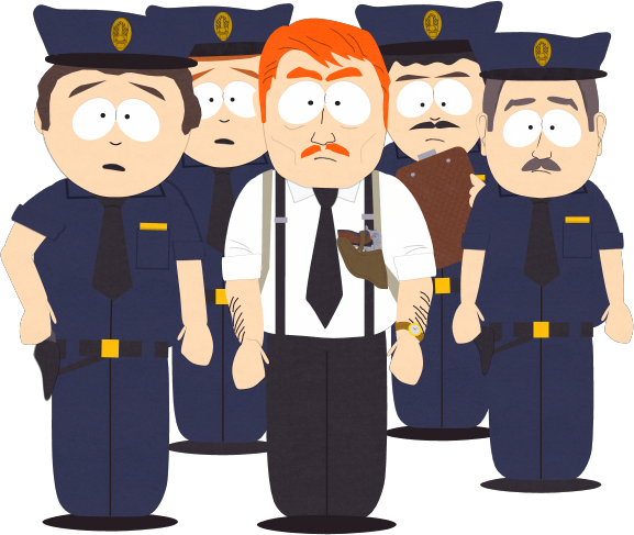 Cartman transparent officer. Park county police force
