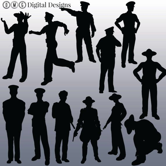 Policeman clipart silhouette. Police images by