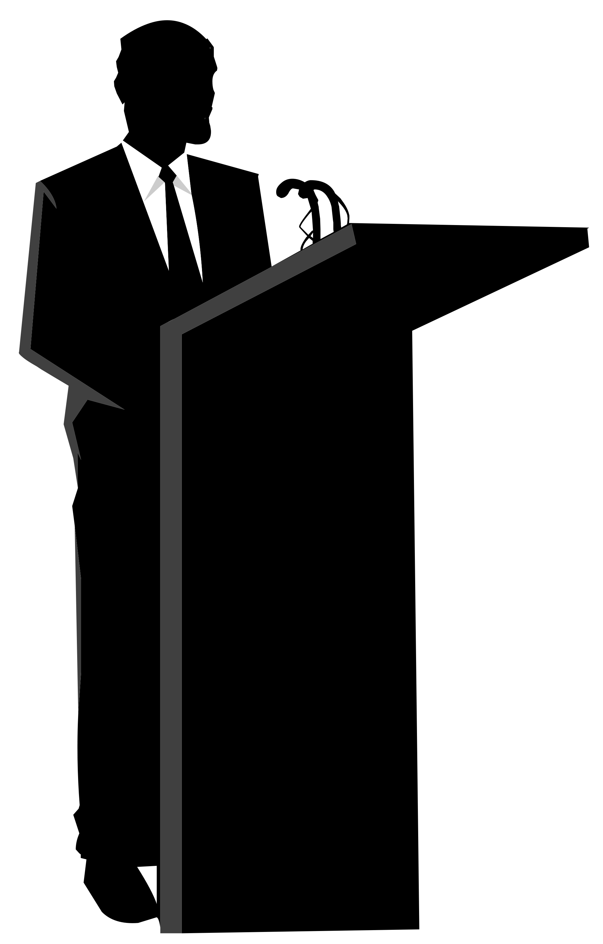 Politician clipart black and white. Silhouette at getdrawings com
