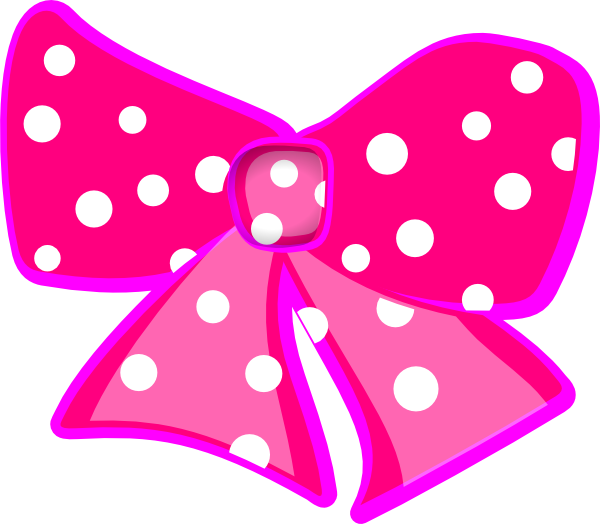 Bowtie clipart minnie mouse bow. Pink polka dot clip