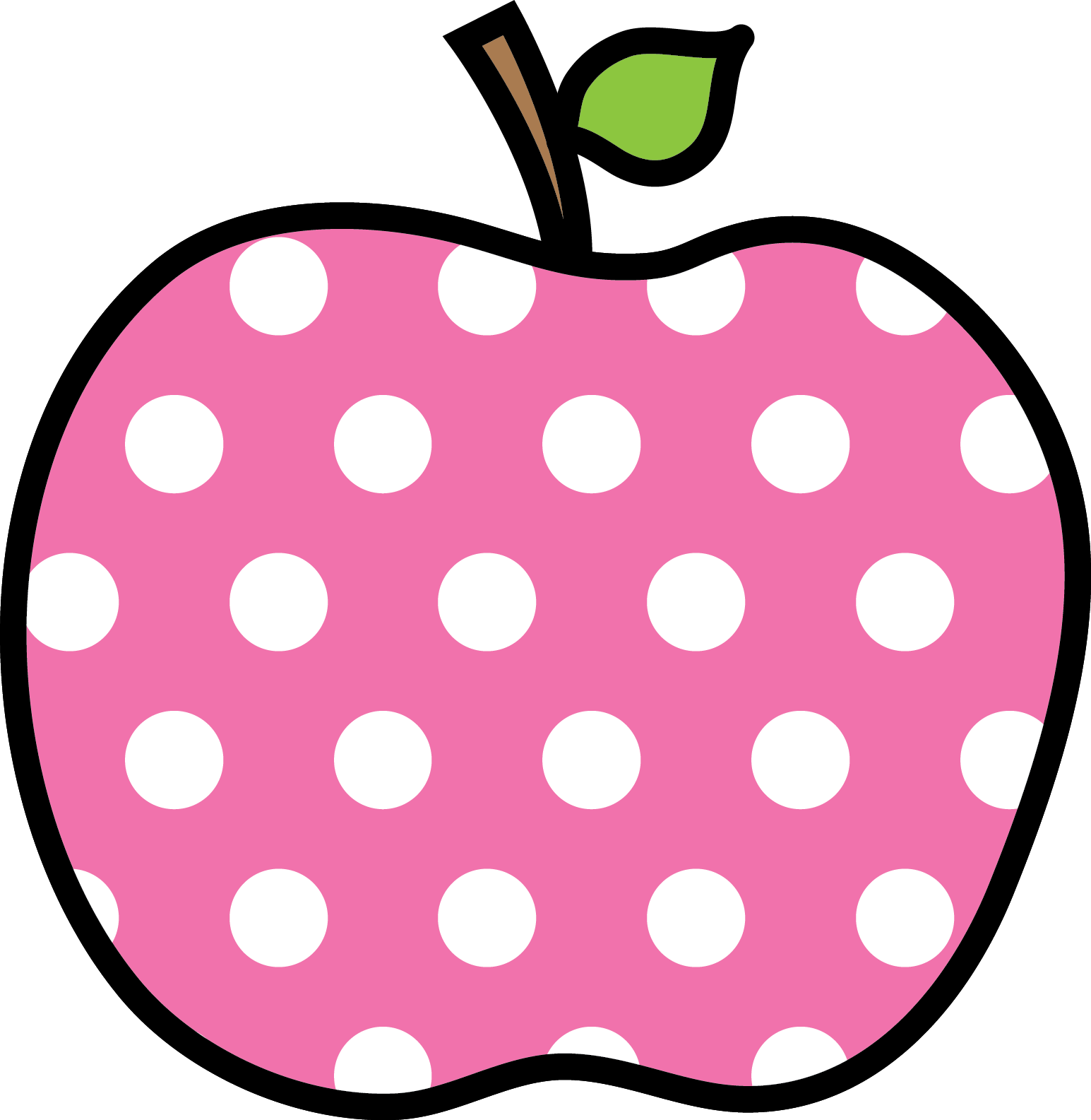 Polka dot apples png. Apple encode clipart to