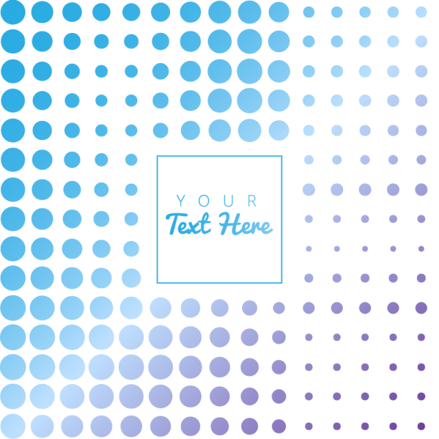 Polka dots background png. Abstract blue with halftone