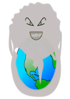 Pollution clipart drawing. Air atmosphere of earth
