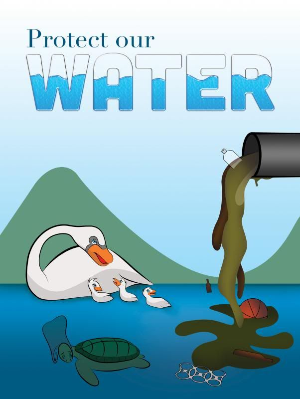 Pollution clipart two cause. Poster this shows aquatic