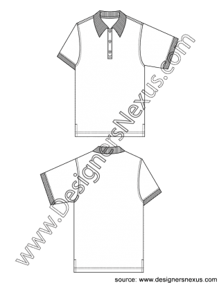 polo drawing collar tshirt