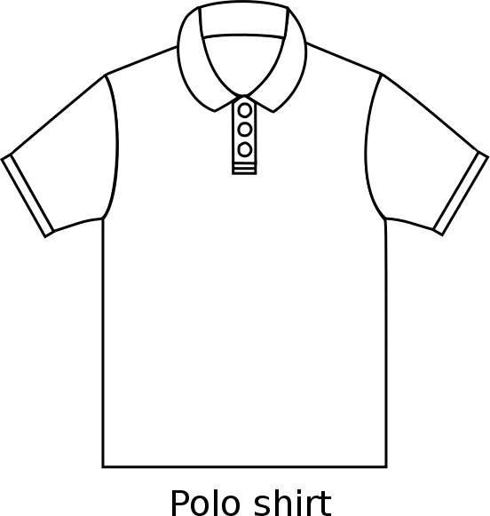 polo drawing simple