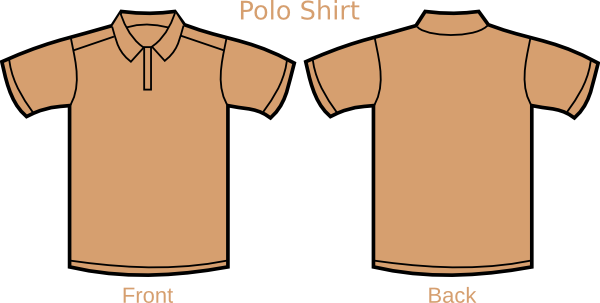Polo drawing kaos. Clip art at clker