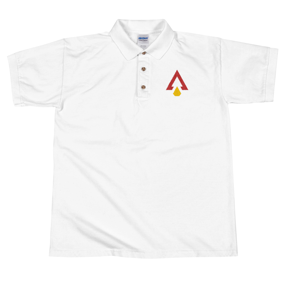 Polo drawing shirt line. Arrowhead addict embroidered fansided