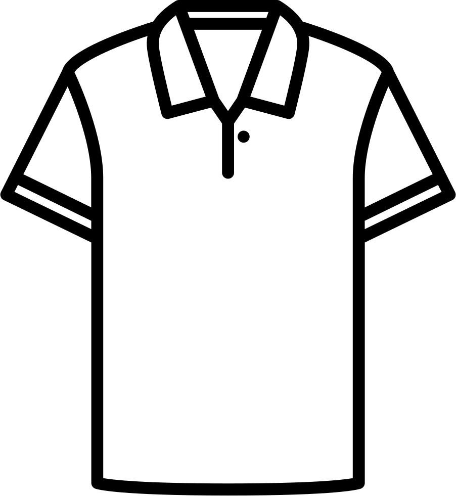 Polo drawing shirt line. Cotton svg png icon