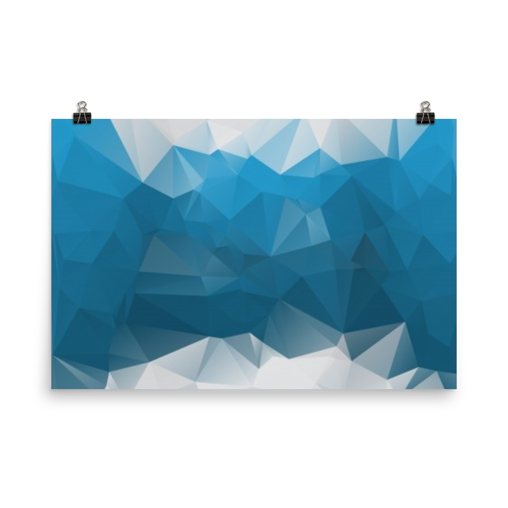 Modern vector polygon. Abstract polygonal blue background