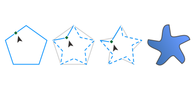 Polygons drawing coreldraw. Help and stars left