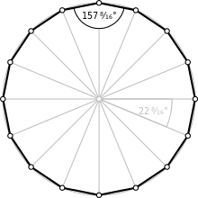 Polygons drawing perspective. Hexadecagon wikipedia regular polygon