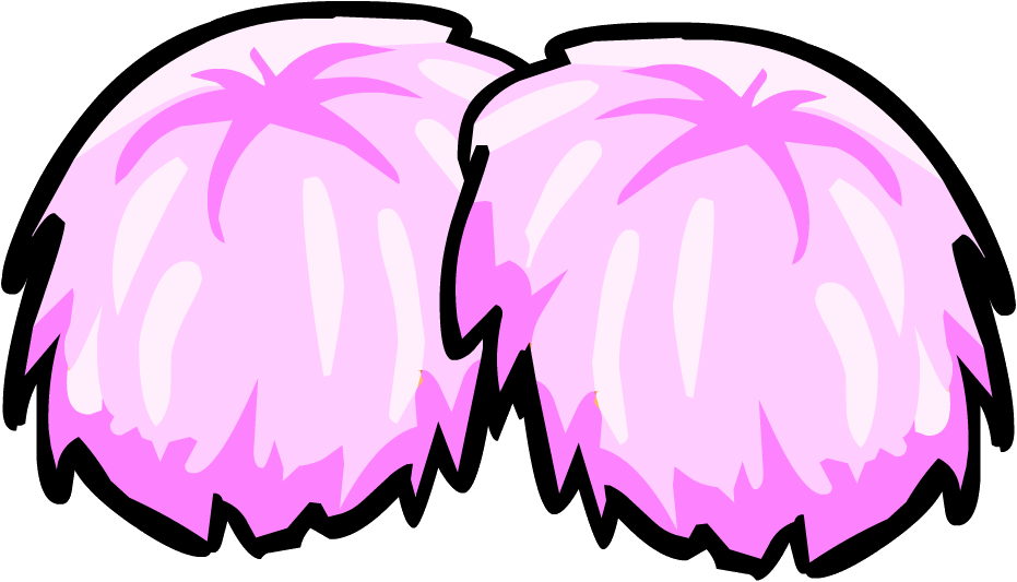Drawing unicorns pom poms. Picture of cheerleader pink