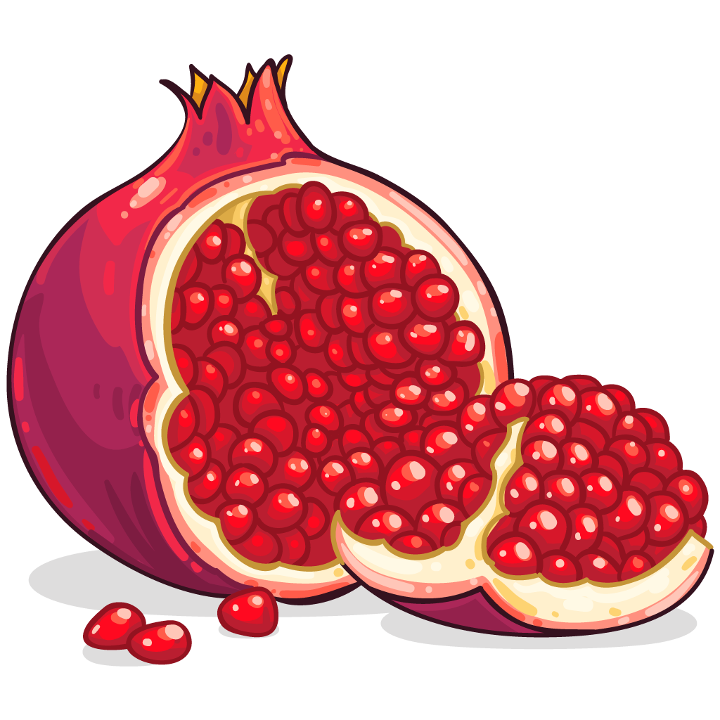 Pomegranate clipart pomegranate fruit. Png images free download
